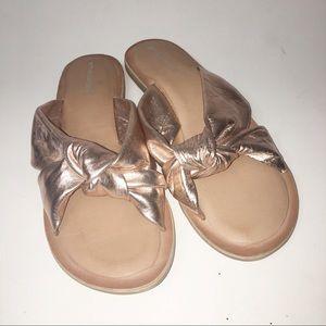 Jeffrey Campbell Zocalo Slide Sandals Rose Gold